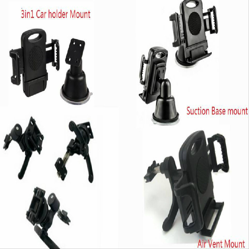 New Air Vent Car Suction Mount Holder 3in1 for iPhone Samsung Galaxy GPS HTC MP4