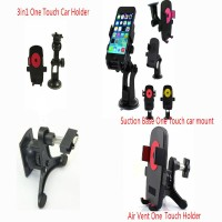 Car Air Vent Suction Mount Holder Kit 3in 1 For Cell Phone iPhone Samsung Galaxy