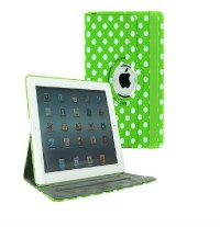 For New iPad 4 4G Gen 3 3rd 2 360 Rotating Magnetic PU Leather Case Smart Cover